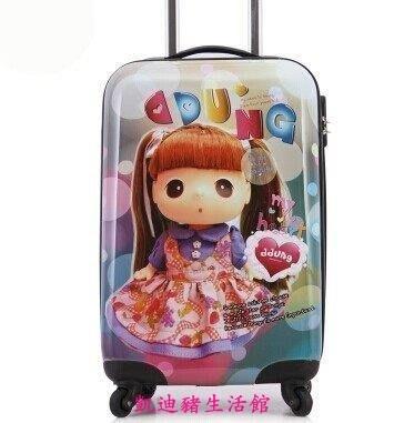 【凱迪豬生活館】卡通拉桿箱旅行箱行李箱密碼箱男女 20寸登機箱萬向輪皮箱 20寸KTZ-200901