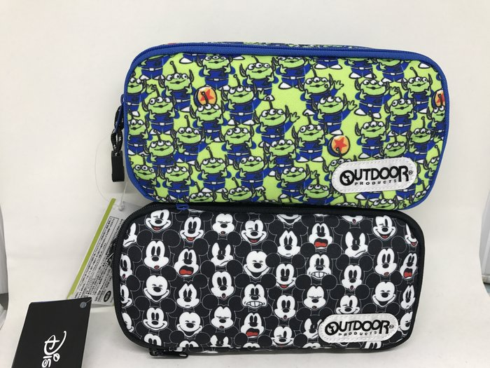 日本 迪士尼×OUTDOOR 聯名系列雙層鉛筆盒