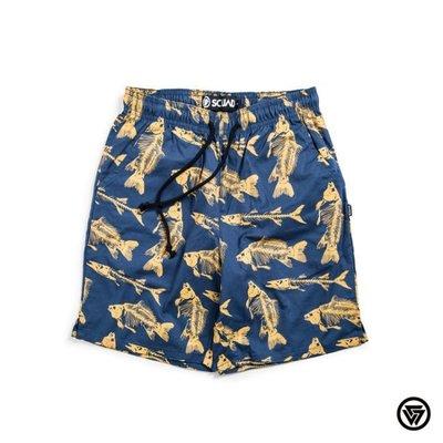 (MARVELOUS)  SQUAD 2017 S/S Fish bone Shorts 魚骨短褲 藍色