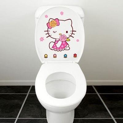 【歐慕家居】可移除防水馬桶貼韓國卡通可愛馬桶貼紙創意墻貼衛生間廁所裝飾
