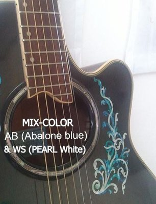 園之屋 缺貨勿下 日本 Inlay sticker 白藍混色 經典藤蔓 另有藍鮑魚 珍珠白 護板 琴身 民謠吉他 貝斯