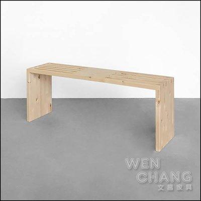 訂製品 肯恩原木長凳 矮凳 椅凳 CU050 *文昌家具*