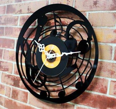 12吋 黑膠CD唱片掛鐘 居家掛鐘 工作室掛鐘 - CWCL00321