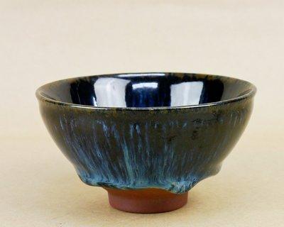 林振生曜變 琉璃靛藍天目盞杯L5