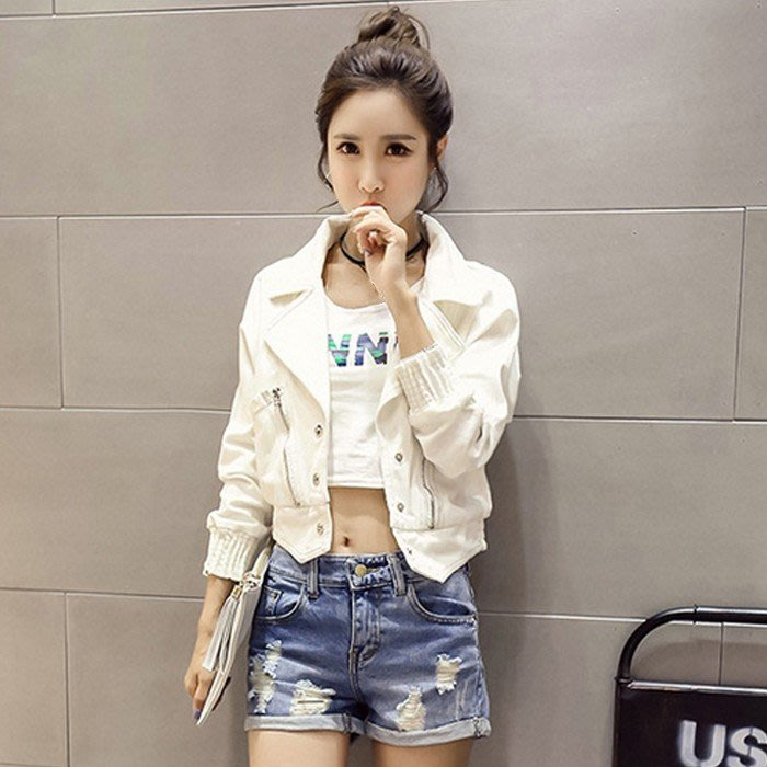 ❤Shinena 千奈公主❤正韓✈白色牛仔外套 短版小外套