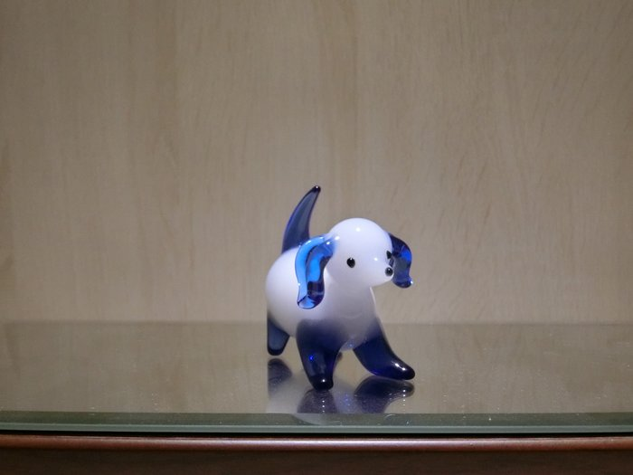 【藝晶香琉璃藝術工坊】可愛白玉大耳狗、手工琉璃