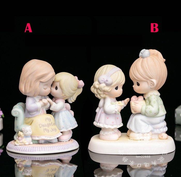 【吉事達】美國Precious Moments水滴娃娃2005 2006母女情深母親節生日陶瓷禮物