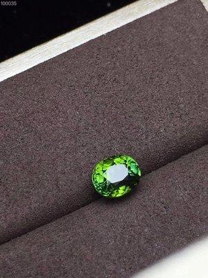 【伊荳晶品館】純天然藍綠色碧璽戒面,寶石重2.295ct,全淨體,火彩佳。