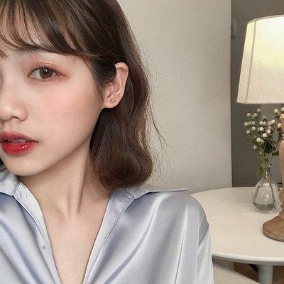 百搭三件套星星耳釘耳飾韓國睡覺不用摘的鑲鉆耳環女E902
