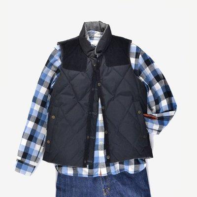 已售出Monsieur Nicole vest鋪棉 灰黑 拼接 雙面 背心 Rocky Mountain 羽絨