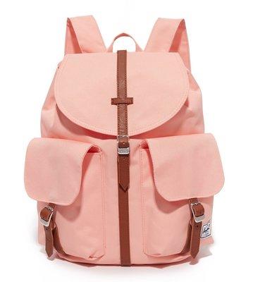 現貨 Herschel 中小型 Dawson Women 粉紅 杏色 皮革 磁扣 女生 帆布 後背包