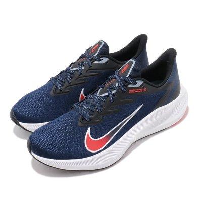 =CodE= NIKE ZOOM WINFLO 7 針織網布慢跑鞋(藍白紅) CJ0291-400 輕量 透氣 避震 男