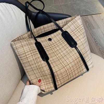 托特包 包包2020新款潮大容量側背包女士帆布包秋冬時尚手提包百搭托特包 suger