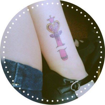 【萌古屋】L系列美少女戰士變身權杖 - 男女防水紋身貼紙原宿刺青貼紙