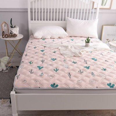 INS風水洗棉可機洗床墊榻榻米墊被1.5m褥子雙人1.8床護墊防滑折疊