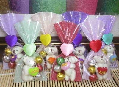 須自行包裝~迷你抱心熊手機吊飾+巧克力+包裝袋~結婚禮小物二次進場送客禮贈品周年慶生日母親節聖誕節情人節來店禮迎賓滿額禮