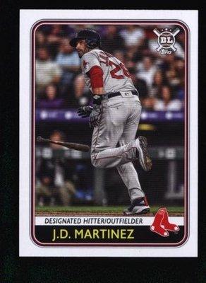 2020 Topps Big League #196 J.D. Martinez - Boston Red Sox