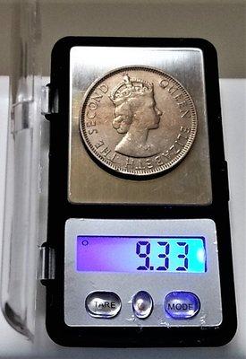 稀少 1954 年 英屬 馬來亞 Malaysia 馬來西亞 北婆羅 洲 50 Cents 原光 美品 大型 古 錢幣