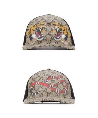 [全新真品代購] GUCCI 蛇王 / 老虎 GG Supreme 帽子 / 棒球帽