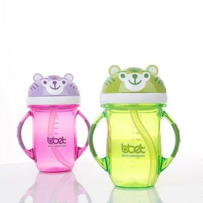 哆啦本鋪 寶寶吸管杯帶手柄防漏嬰兒喝水杯學飲杯訓練杯 D655