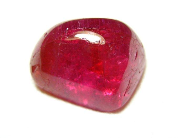 紅寶石 售價五百五十萬 緬甸無燒櫻桃紅 - 22.49克拉【Texture & Nobleness 低調與奢華】