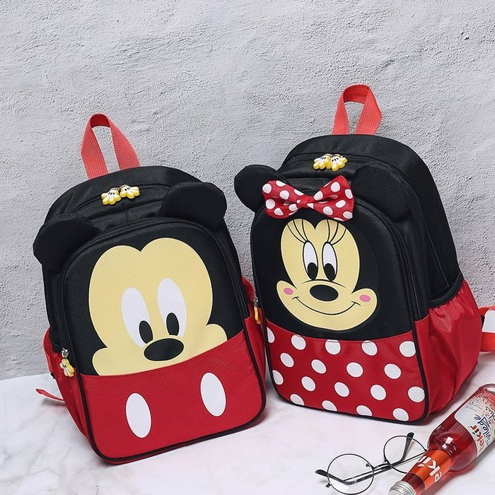 兒童書包正韓國版米奇米妮可愛小學生幼兒園兒童書包女童男童2018新款卡通雙肩包10-21