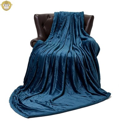 Lively毛毯 全消光法蘭絨毯子雙層加厚床單3kg重包邊加絨空調蓋毯  #川川而上#GRGG65