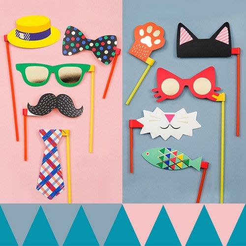 假面舞會派對面具趣味拍照道具可愛搞怪紙面具_☆找好物FINDGOODS☆