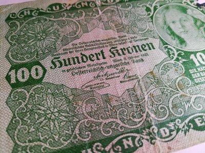 銘馨易拍重生網 107M02早期 外國 1922年 美少女 有損 細緻花繪紋印刷 似火燒過 小鈔票 保存如圖