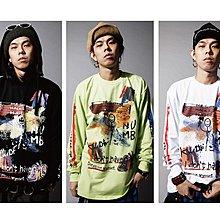 美國東村【SLIGHTLY NUMB】 PAPER CUTS L/S TEE 塗鴉 印刷 薄 衛衣