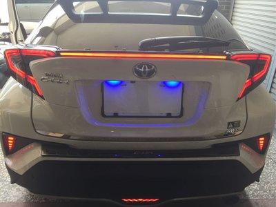 豐田TOYOTA CHR改裝尾燈 LED光導 轉向流光 呼吸 煞車燈 後尾燈 17-18CHR 動態尾燈 流水尾燈