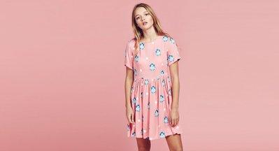 (預購商品) LAZY OAF POODLE DRESS 粉紅色 印花 點點 短袖 洋裝
