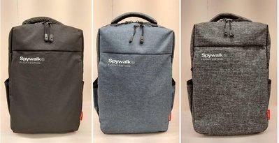 SPY WALK 8031 後背包 休閒包 背包 黑/灰/藍 小款