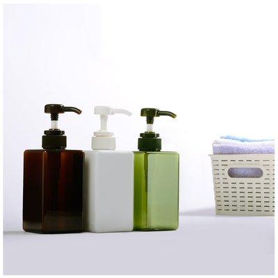 『藝瓶』瓶瓶罐罐 空瓶 空罐 化妝保養品分類瓶 按壓瓶 矩型乳液/壓泵分裝瓶子-正方(中)