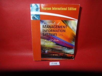 【愛悅二手書坊 13-48】Essentials of Management Information Systems
