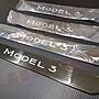 (小鳥的店)特斯拉 MODEL 3 黑鈦亮拉絲 迎賓踏板 門檻飾條 防刮護板 一組四入TESLA