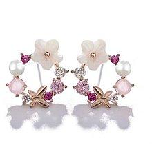 新款甜美貝殼花耳環  (型號:JP-ER-0004) 全店飾物購滿100元 *包【順豐】運費*