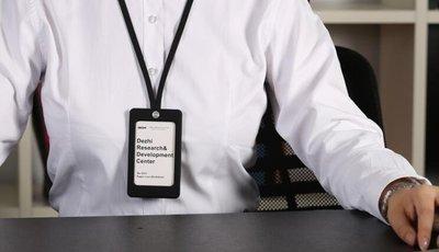ZIHOPE 德式高級硅膠證件卡套 軟工作牌掛繩 86X54胸牌工作證 門禁卡套ZI812