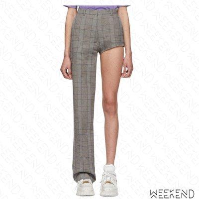 【WEEKEND】 PUSHBUTTON 格紋 不對稱 長短褲