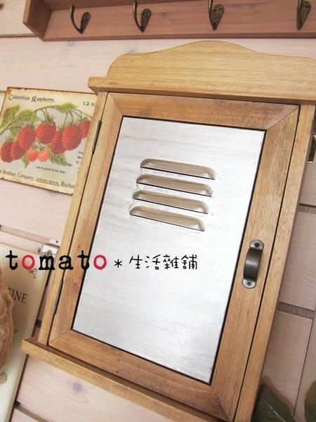 ˙TOMATO生活雜鋪˙日本進雜貨木質鑰匙掛鉤收納箱