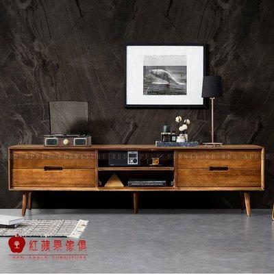 [紅蘋果傢俱]MG1554 金絲檀木(胡桃木)系列  電視櫃 茶几餐邊櫃 斗櫃 鞋櫃 書桌 餐桌 實木 北歐風  輕奢
