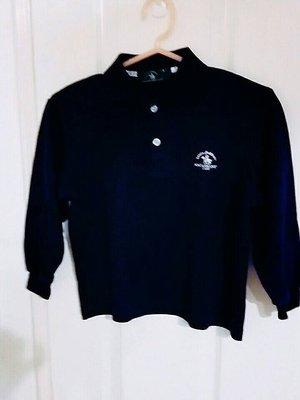 聖大保羅 【Polo& Racquet Club】 兒童 深藍色 長袖 上衣  8號   特價490元 含運費