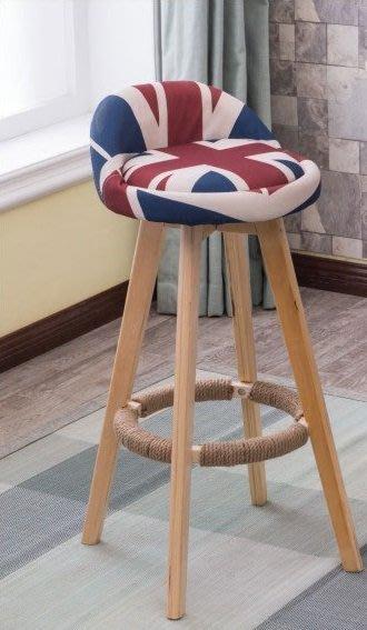 【南洋風休閒傢俱】吧台椅系列-美式鄉村吧台椅 風格復古實木吧台椅 布藝升降吧椅 PU皮實木酒吧椅 適餐廳 吧台 咖啡屋