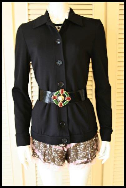 $1999起標【Max Mara】旗下MAX & Co黑色圓扣簡約風短大衣蓋臀外套 不含腰帶