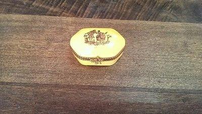 法國進口Made in France 手繪/描金 琺瑯 limoges 珠寶/戒指 收納盒