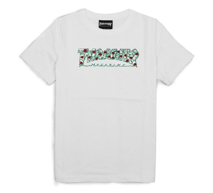 【HOPES】THRASHER ROSE TEE-WHITE 玫瑰 短TEE