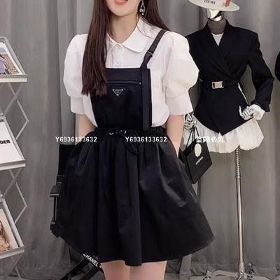 花花家2021新款暗黑系酷女孩兒 輕工裝fell卡扣設計背帶裙套裝-BXZ9952