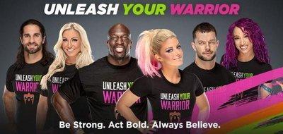 [美國瘋潮]正版 WWE Unleash Your Warrior T-shirt 釋放勇氣慈善紀念款衣服