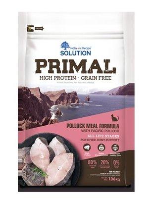 【饅頭貓寵物雜貨舖】SOLUTION PRIMAL 耐吉斯 源野高蛋白無穀全齡貓-鱈魚配方 6LB