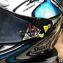 TUTU圖圖車貼 SHOEI加藤DAIJIRO X12X14競技鏡片膜貼紙頭盔反光貼